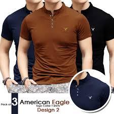 tshirts design of 3 american eagle logo collar t shirts design 2
