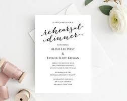 Wedding Rehearsal Dinner Invitations Templates Free Rehearsal Dinner Invitation Template Etsy
