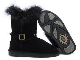 ugg sale cyber monday cyber monday uggs fox fur buckled 5558 black for ugg 0052