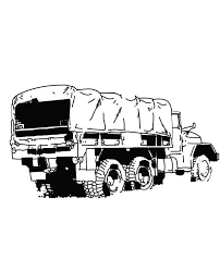 tractor trailer coloring pages an army semi truck coloring page netart