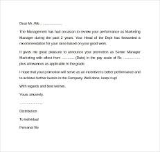 sample promotion letter exciting cover letter for internal