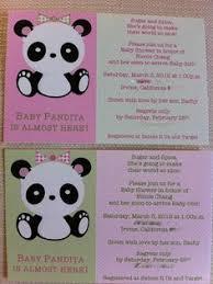 Panda Baby Shower Invitations - panda bear pink baby shower invitations pink babies and shower
