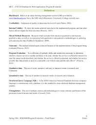 Program Paper Edld808 Program Evaluation Final Project Final Paper Online Educati U2026