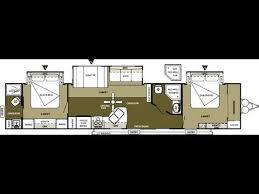 Rv 2 Bedroom Floor Plans 2013 Wildwood Dlx 4002q 2 Bedroom 2 Bathroom 43 U0027 Travel Trailer