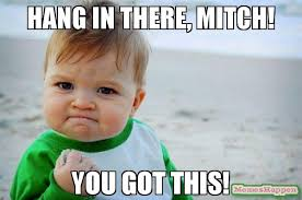 Mitch Meme - hang in there mitch you got this meme success kid original