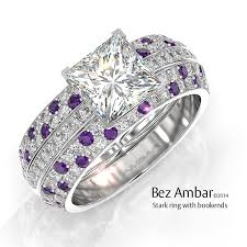 purple diamond engagement rings stark ring for princess cut diamond center
