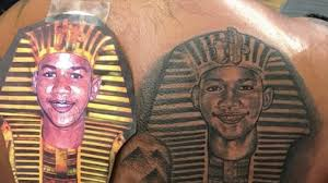 trayvon martin s gets s tattooed on his back by black