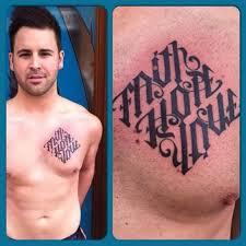 outstanding ambigram font for s chest tattooshunter com