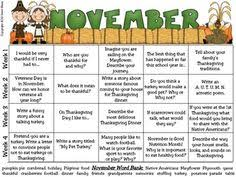 november writing prompts for kindergarten to second grade tpt