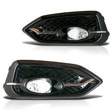 winjet 2014 2015 honda civic coupe 2dr fog lights kit clear