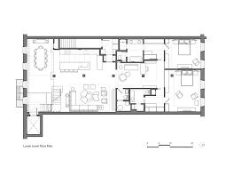 tribeca loft andrew franz architect archdaily lower floor plan