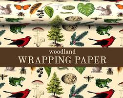 personalized gift wrapping paper woodland wrapping paper custom woodland gift wrap paper 9 foot