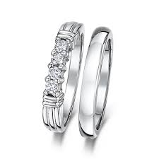 wedding ring sets uk cobalt 3mm engagement eternity wedding band bridal set rings