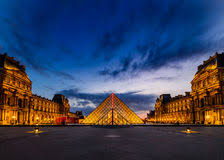 louvre museum at sunset wallpapers louvre sunset editorial photography image of france 69029892