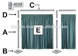 wedding backdrop equipment source easy install pipe and drape wedding backdrops portable