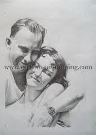 pencil drawing custom oil painting photo to painting art
