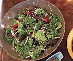 mixed herb salad with honey lime dressing finecooking
