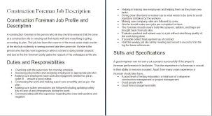 construction worker description for resumes gse bookbinder co