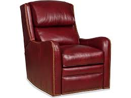Red Leather Swivel Chair by Bradington Young Living Room Henley Swivel Glider Recliner 7076 Sg