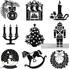 christmas decorations vector art getty images