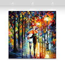 lovers date in rain roman kiss 100 hanpainted oil painting canvas