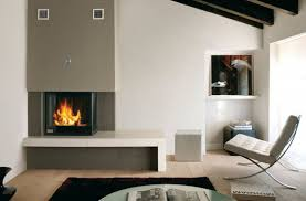 home decor modern wood burning fireplace industrial looking