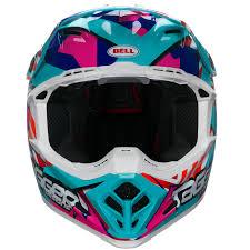 vintage motocross helmet bell moto 9 tagger trouble blue red white motocross helmet motox