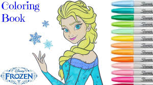 frozen disney coloring book elsa princess colouring pages for