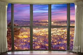 beautiful city lights bay window view photograph by bo insogna