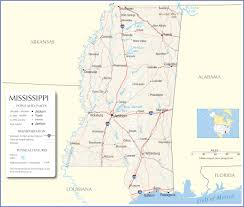 Road Map Of Usa States by Mississippi Map Mississippi State Map Mississippi Road Map Map Of