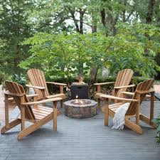 Fire Pit And Chair Set Belham Living Hampton Deluxe Oak Adirondack Fire Pit Chat Set