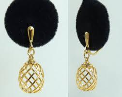 1970s earrings trifari earrings etsy