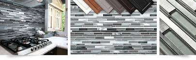 Blue Gray Glass Metal Kitchen Backsplash Tile Backsplashcom - Gray backsplash tile