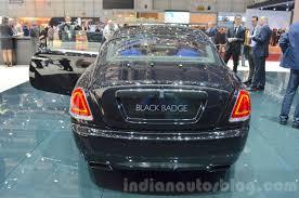 rolls royce rear rolls royce wraith black badge edition rear at 2016 geneva motor