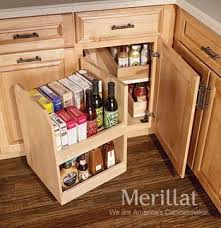 how to organize corner kitchen cabinets change the way you use blind corner cabinets mecc