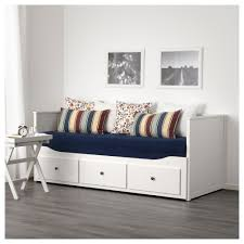 hemnes day bed w 3 drawers 2 mattresses white husvika firm 80x200