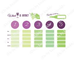 items similar to wine tasting score card for up to 5 wines