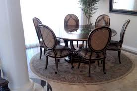 round dining room rugs pedestal table round rugbhg centsational