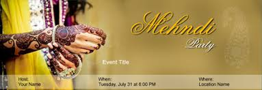 mehndi invitation cards free mehndi party invitation with india s 1 online tool
