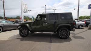 jeep sahara green 2016 jeep wrangler unlimited sahara sarge green gl230916 mt