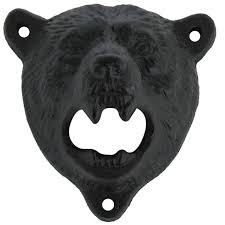amazon com cast iron wall mount grizzly bear teeth bite bottle