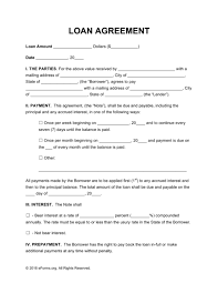 unsecured loan agreement sample unsecured loan agreement template