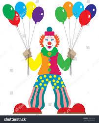 clown baloons flat vector clown balloons stock vector 700184164
