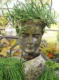 planters medusa string pearls head stone planter medusa head