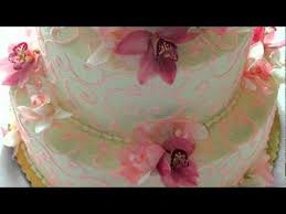 orchid wedding cakes youtube