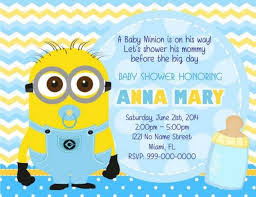 minion baby shower minions baby shower invitations minion ba shower invitations