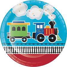 aboard train paper plates 8 pk walmart