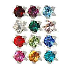 sterilized ear piercing studs a a jewelry supply birthstone ear piercing studs