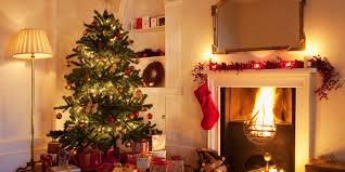 real candles on christmas tree christmas lights decoration