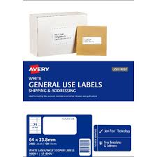 33 Labels Per Sheet Template by Avery General Use Labels White 24 Up 100 Sheet Officeworks